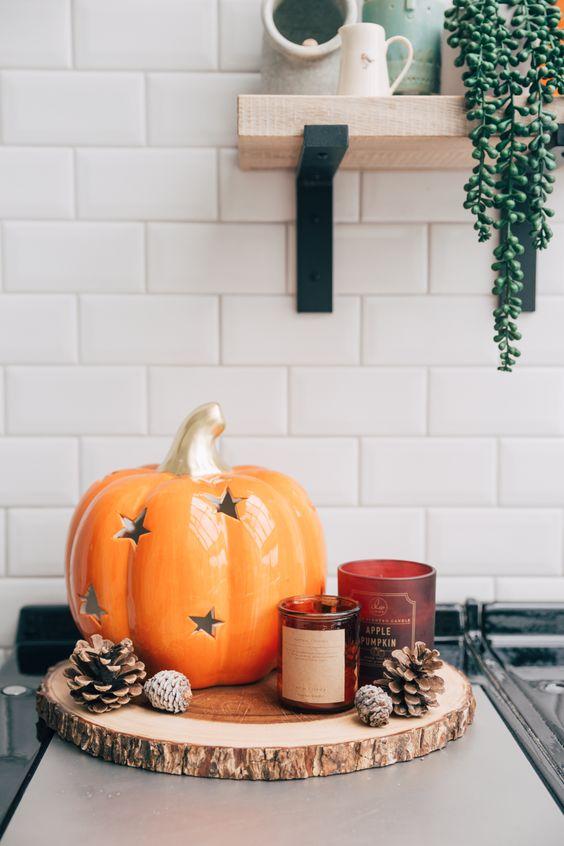 Jesenné dekorácie v obývačke - Obrázok č. 25