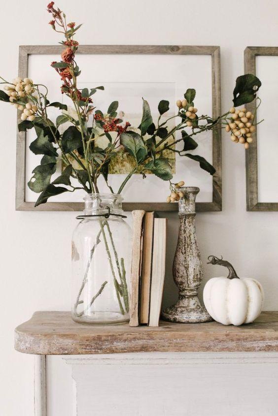 Jesenné dekorácie v obývačke - Obrázok č. 28