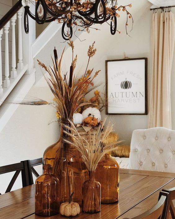 Jesenné dekorácie v obývačke - Obrázok č. 27