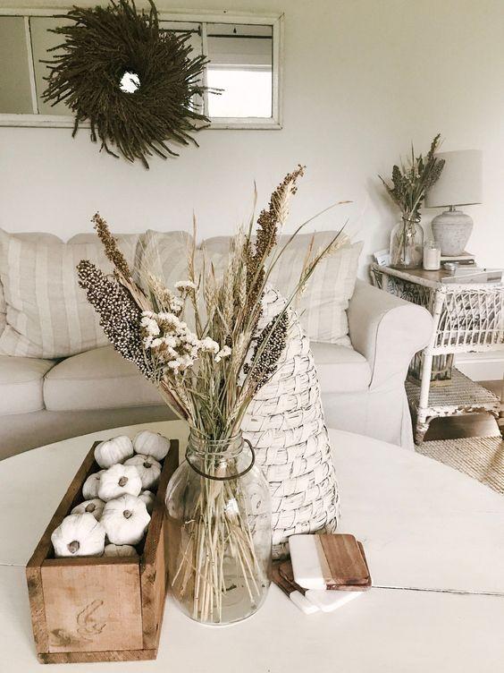 Jesenné dekorácie v obývačke - Obrázok č. 31
