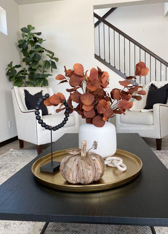 Jesenné dekorácie v obývačke - Obrázok č. 32