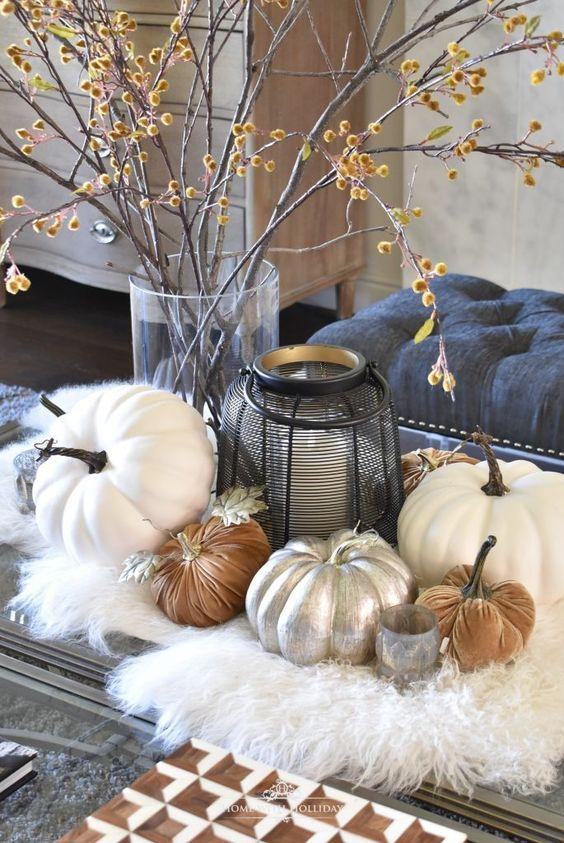 Jesenné dekorácie v obývačke - Obrázok č. 24