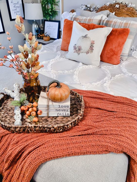 Jesenné dekorácie v obývačke - Obrázok č. 34
