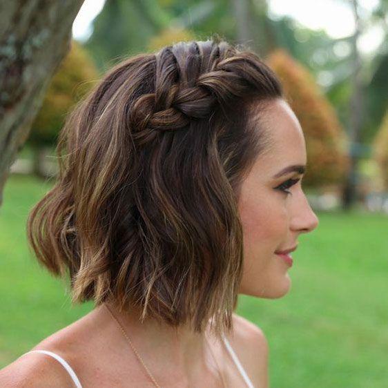 Svadobný účes pre krátke vlasy - Obrázok č. 16