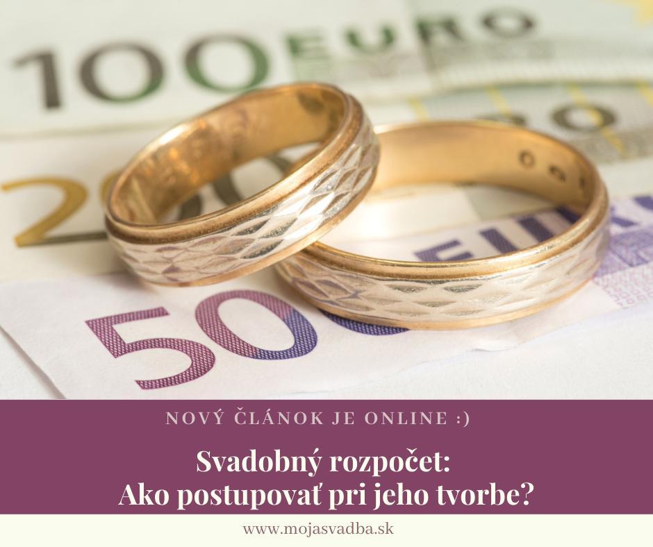 Ak chcete mať prehľad o financiách alebo máte stanovenú maximálnu sumu za svadbu, ktorú nemôžete prekročiť, mali by ste si hneď na začiatku plánovania rozpísať váš svadobný rozpočet. :) Návod na to, ako postupovať pri jeho tvorbe, nájdete v našom článku: https://mojasvadba.zoznam.sk/magazine/svadobny-rozpocet - Obrázok č. 1