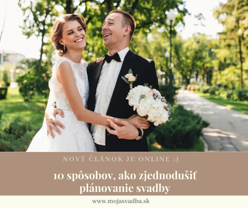 Príprava vášho veľkého dňa je určite zábavný, ale zároveň aj náročný a miestami stresujúci proces. Aby ste si vychutnali najmä tú jeho zábavnú stránku, tu je niekoľko spôsobov, ako zjednodušiť plánovanie svadby: https://mojasvadba.zoznam.sk/magazine/ako-zjednodusit-planovanie-svadby :) - Obrázok č. 1