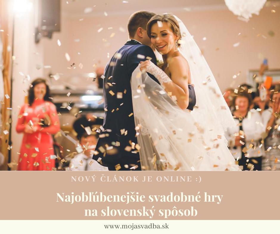 Stále viac sa stretávame so svadbami, ktorých súčasťou sú aj svadobné hry. Aké svadobné hry sú populárne a stoja za povšimnutie? Pripravili sme pre vás prierez tými najlepšími svadobnými hrami: https://mojasvadba.zoznam.sk/magazine/svadobne-hry :) - Obrázok č. 1