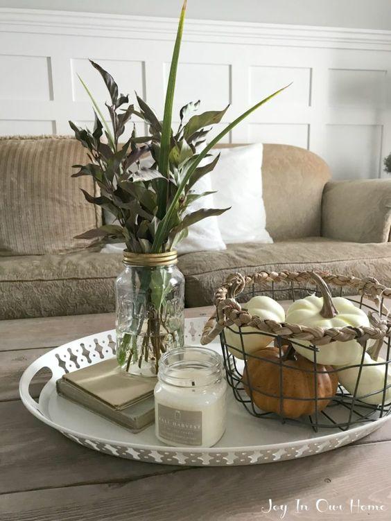 Jesenné dekorácie v obývačke - Obrázok č. 36
