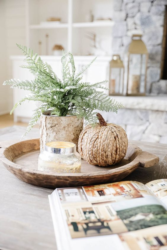 Jesenné dekorácie v obývačke - Obrázok č. 37