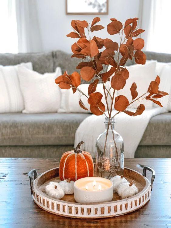 Jesenné dekorácie v obývačke - Obrázok č. 44