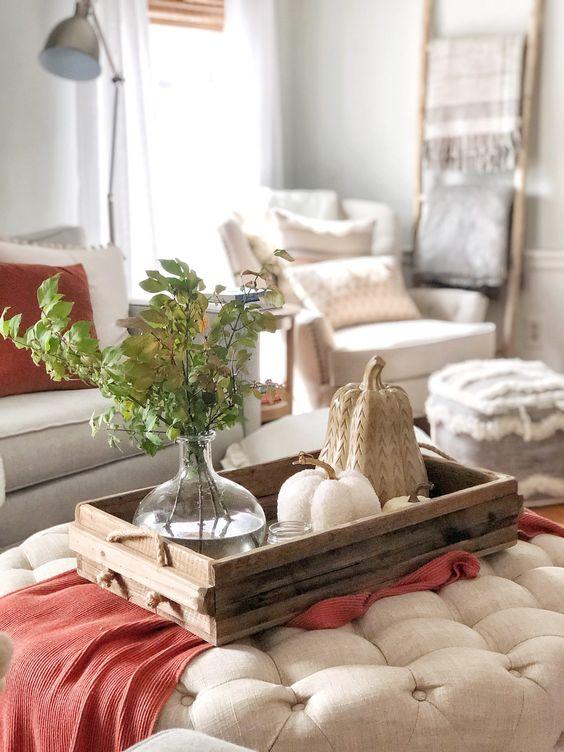 Jesenné dekorácie v obývačke - Obrázok č. 46