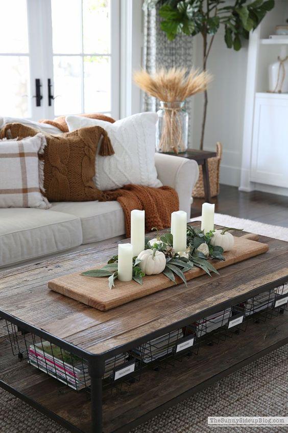 Jesenné dekorácie v obývačke - Obrázok č. 47