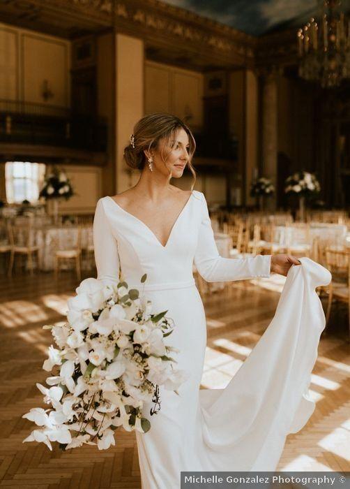 Svadobné šaty s rukávmi