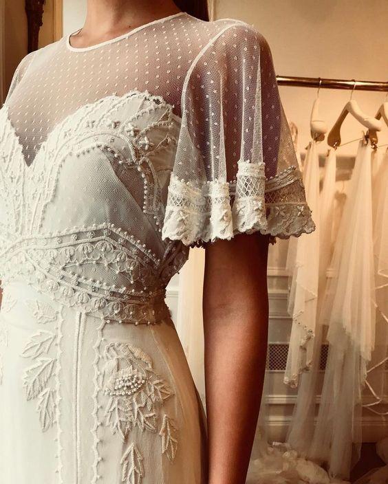 Svadobné šaty s rukávmi - Obrázok č. 7