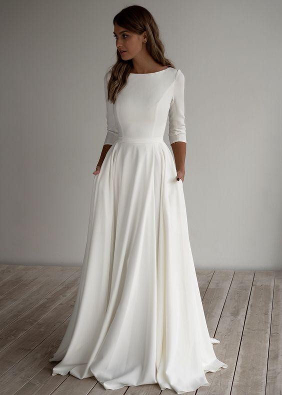 Svadobné šaty s rukávmi - Obrázok č. 16