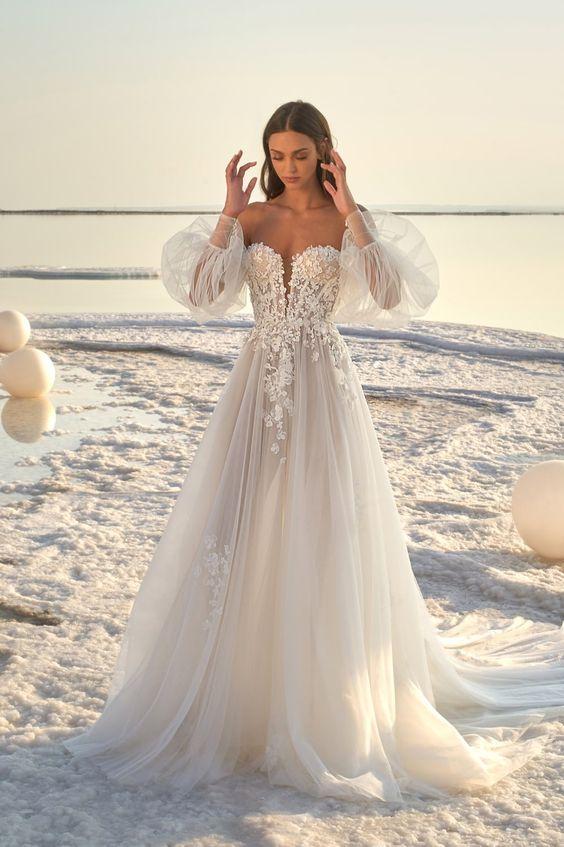 Svadobné šaty s rukávmi - Obrázok č. 10