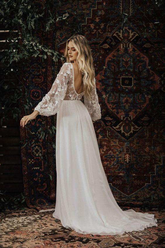 Svadobné šaty s rukávmi - Obrázok č. 8