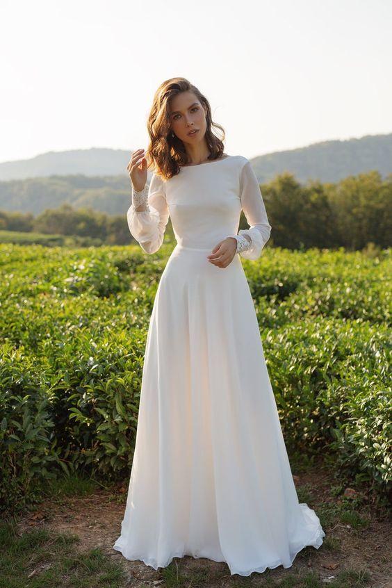 Svadobné šaty s rukávmi - Obrázok č. 15