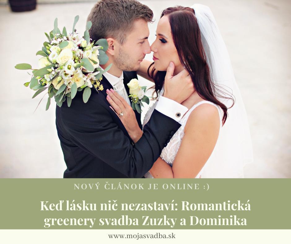 Hoci Zuzka a Dominik plánovali veľký deň, nakoniec z neho bol iba svadobný obrad. Napriek tomu bola táto romantická greenery svadba plná dojímavých momentov. :) Prečítajte si celý rozhovor tu: https://mojasvadba.zoznam.sk/magazine/ked-lasku-nic-nezastavi-romanticka-greenery-svadba-zuzky-a-dominika :) - Obrázok č. 1