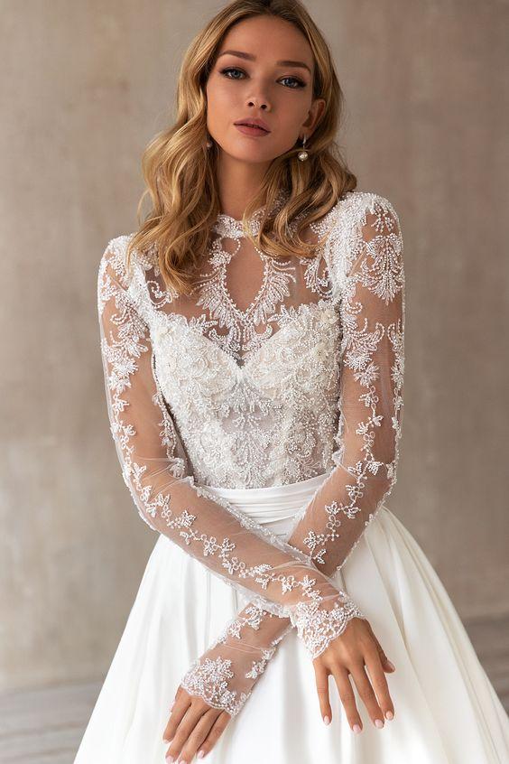 Svadobné šaty s rukávmi - Obrázok č. 23