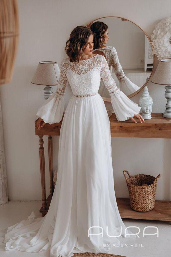 Svadobné šaty s rukávmi - Obrázok č. 42