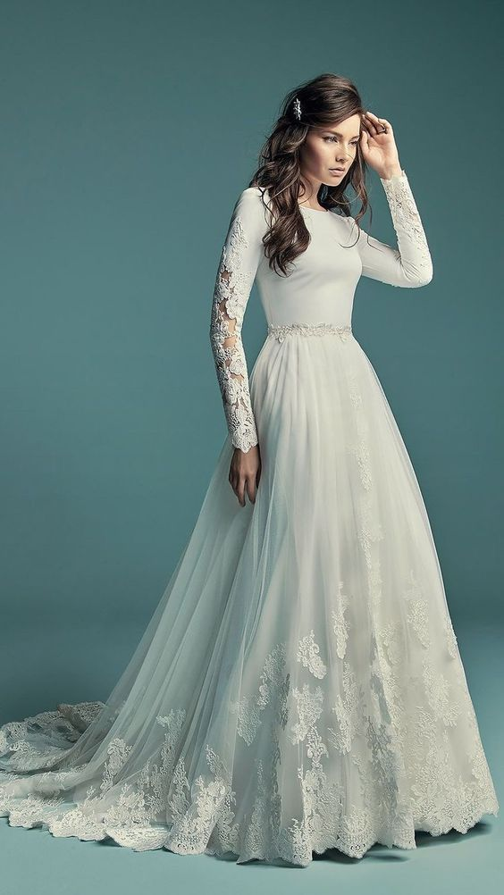 Svadobné šaty s rukávmi - Obrázok č. 45