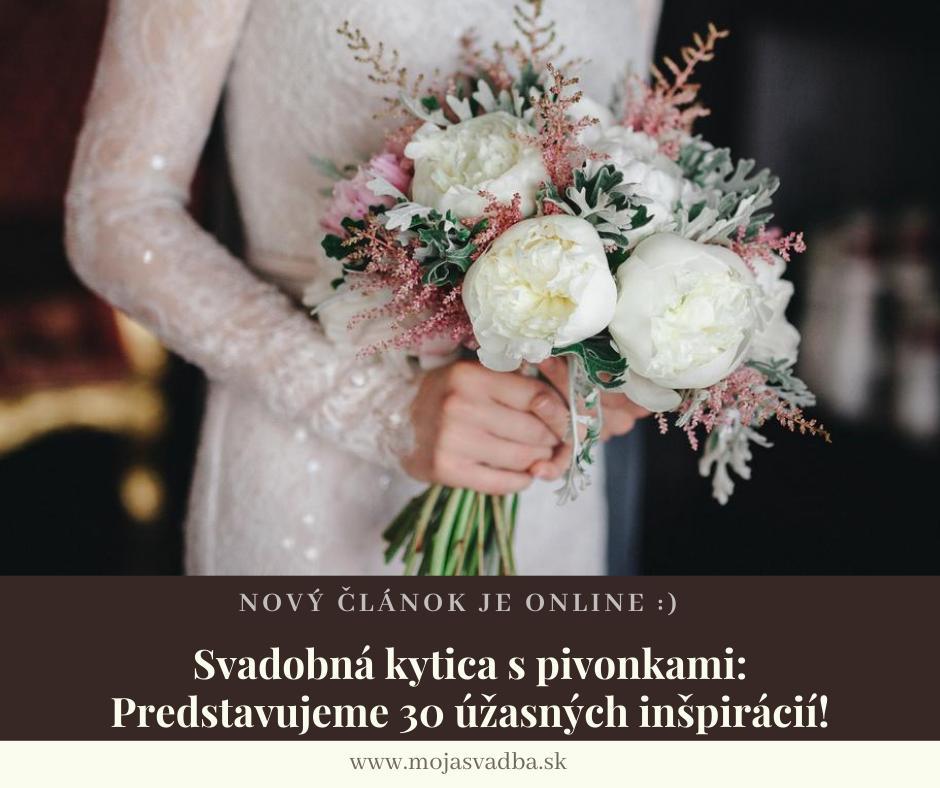 Spolu s jarou vždy prichádza aj sezóna pivoniek, ktoré sú veľmi obľúbeným svadobným kvetom.😍💐 Svadobná kytica s pivonkami je častou voľbou pre mnohé nevesty aj mimo ich sezóny, a niet sa čo čudovať.😊 Predstavujeme vám 30 úžasných pivonkových inšpirácií: https://mojasvadba.zoznam.sk/magazine/svadobna-kytica-pivonky :) - Obrázok č. 1