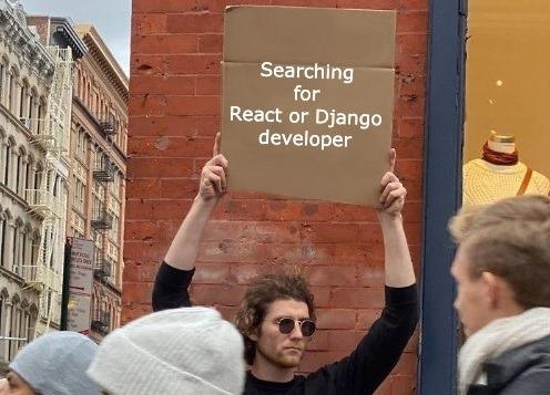 Ponuka práce: React developer alebo Backend python developer, ktorý bude spolu s nami vyvíjať naše weby