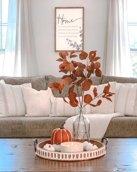 Jesenné dekorácie v obývačke - Obrázok č. 48