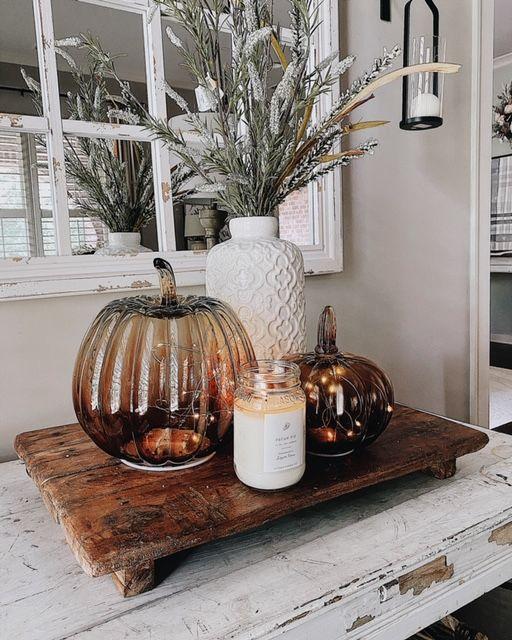 Jesenné dekorácie v obývačke - Obrázok č. 51