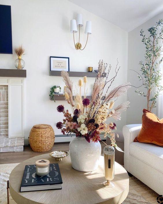 Jesenné dekorácie v obývačke - Obrázok č. 60