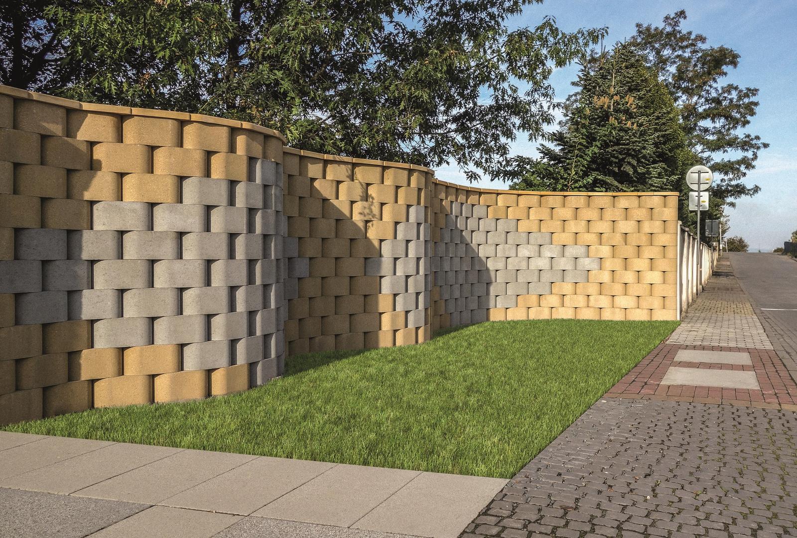 Betonové ploty z tvárnic, cihel a deskové - RONDE BLOCK