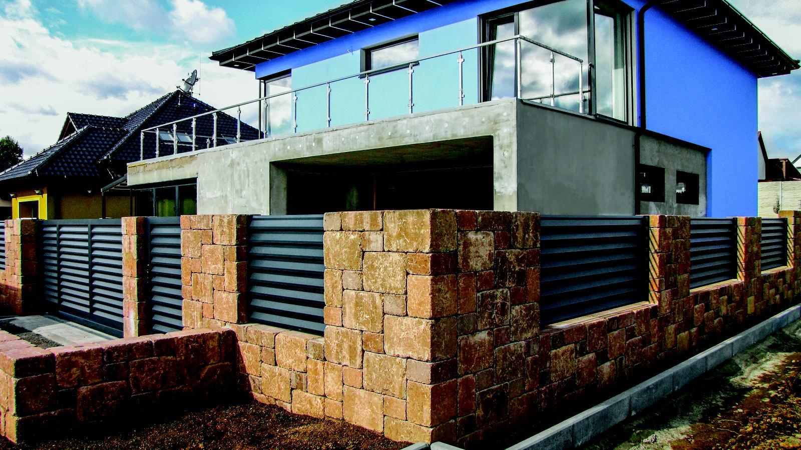Betonové ploty z tvárnic, cihel a deskové - CAKE BLOCK