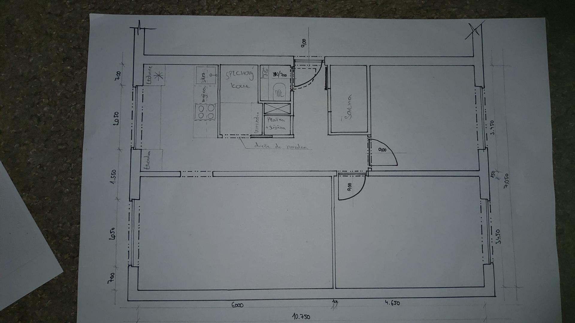 Ahoj,  čeká nás rekonstrukce bytu... - Obrázek č. 1