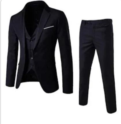 Nový Pánsky oblek  čierny S - Obrázok č. 1