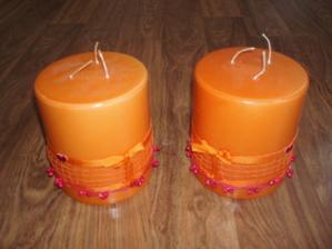 Velké svíčky-do čela stolu