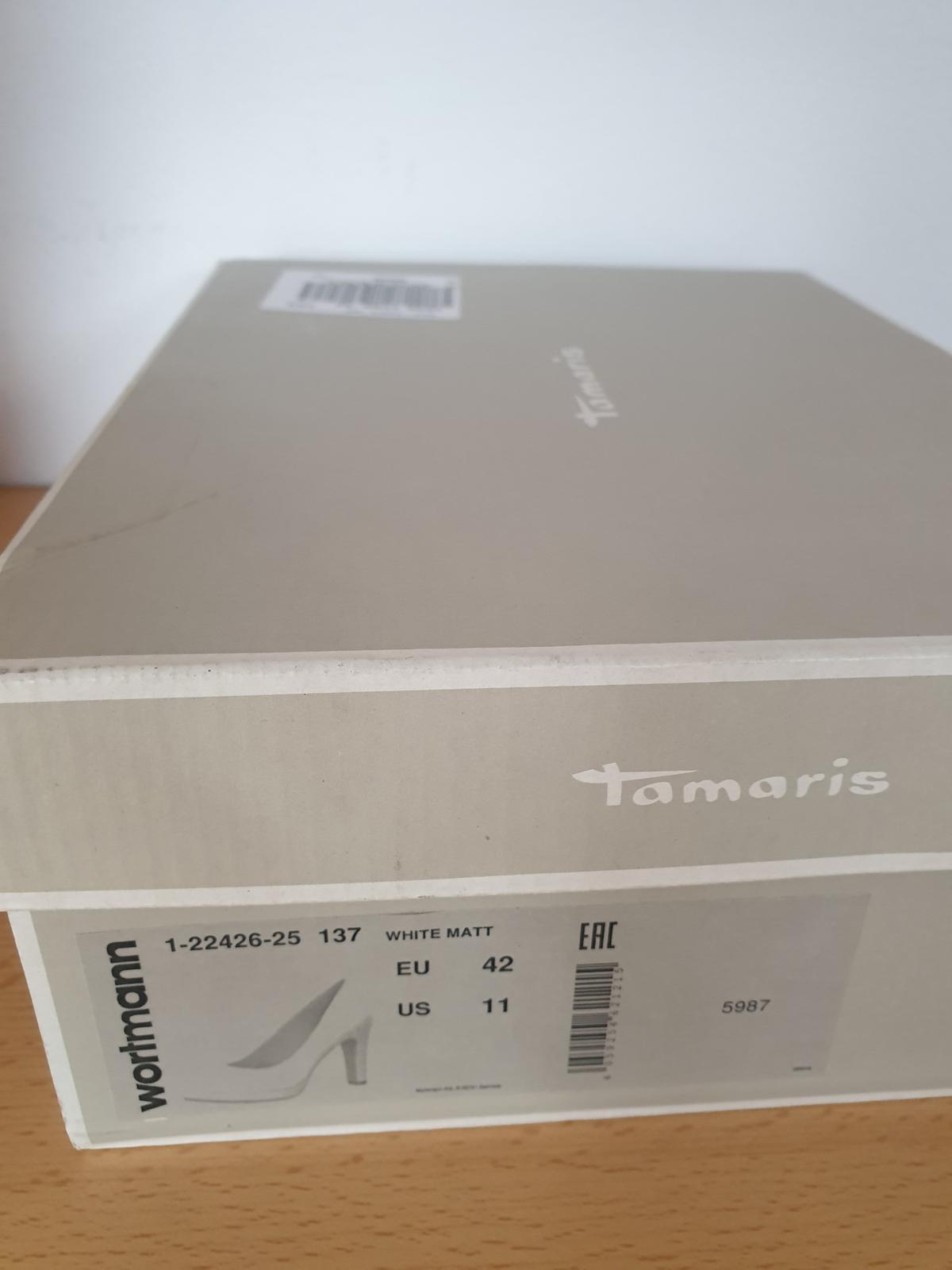 svatební bílé lodičky 42 tamaris - Obrázek č. 1