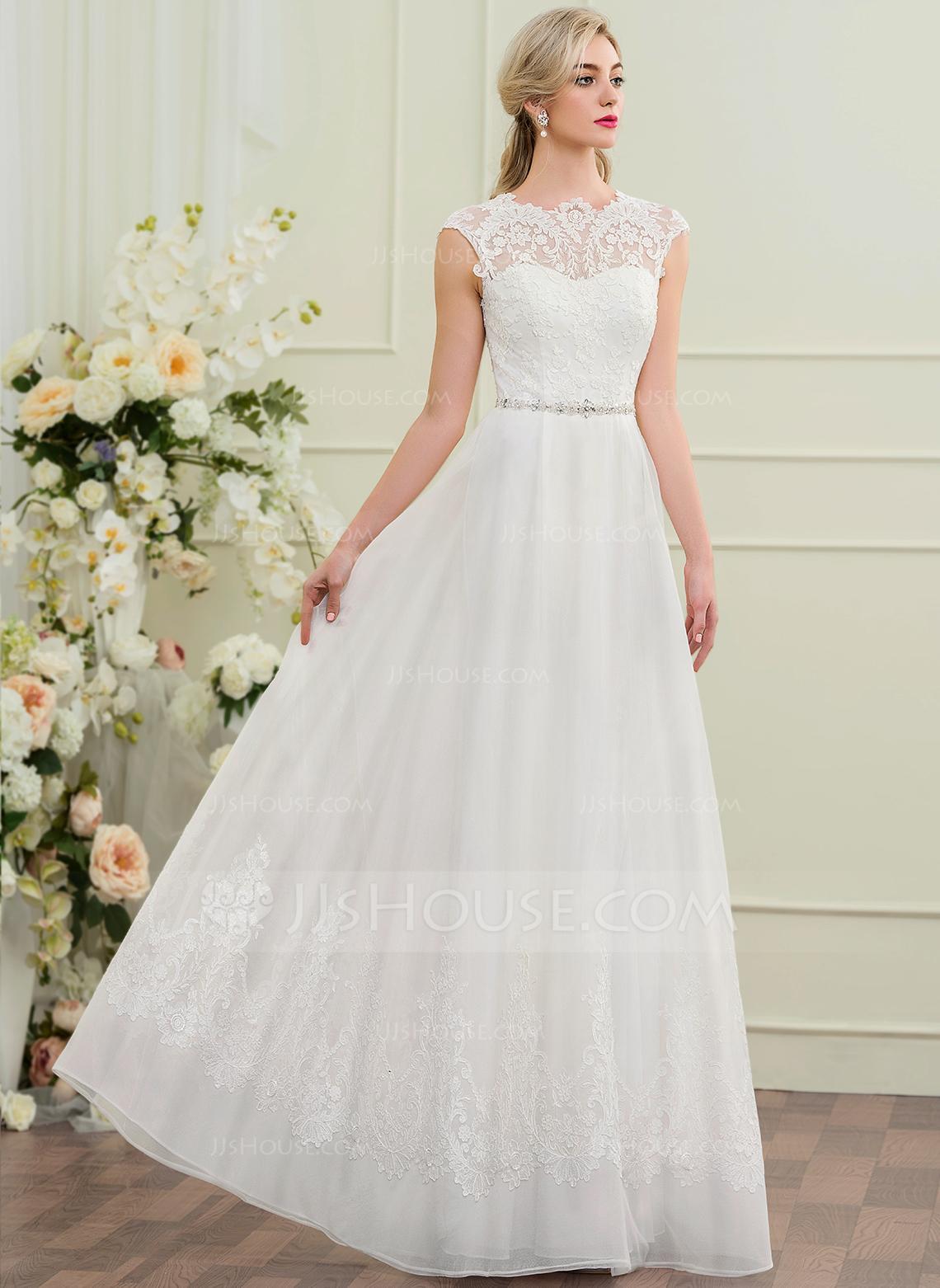 Svatební šaty s kamínkovým páskem - Obrázek č. 1