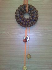 žaludová dekorace - made in doma dělaný :-))