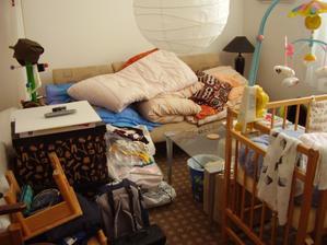 stěhování ložnice a Jakubova pokoje