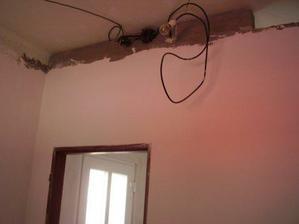 Nahozená a oštukovaná tech. místnost