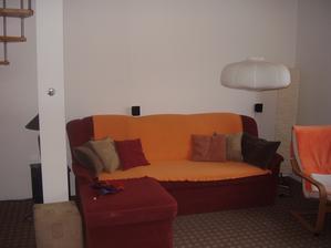 Nově uspořádaný obývací pokoj