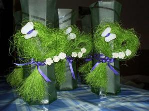 zvýšilo sa veľa sisalu, tak sme vyrobili takého dekorácie na vázy