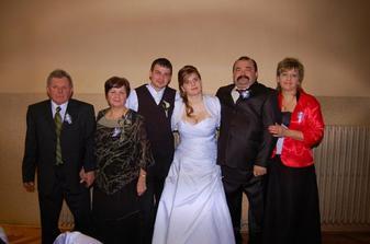 svokrovci,my a moji rodičia:)