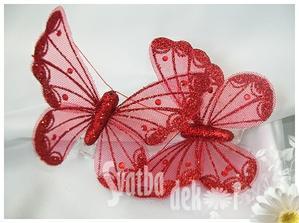 svatební motýlci...