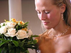 Nevěsta během obřadu