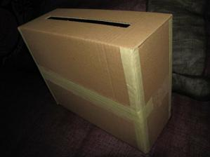 krabička na přáníčka před zdobením