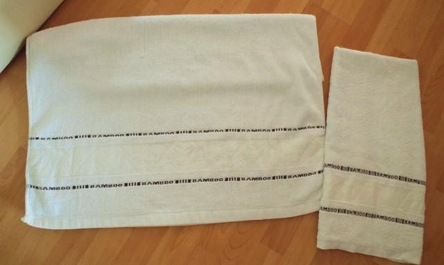 1 x osuška 1 x uterák-bambus - Obrázok č. 1