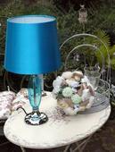 štýlová dizajnová tirkysová lampa,