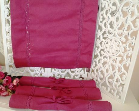 4 x malinové textilné prestieranie - Obrázok č. 1